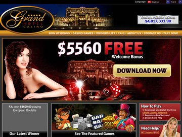 Grand Hotel Casino Homepage Preview