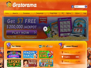 Gratorama Casino Homepage Preview