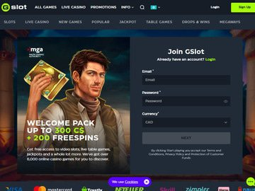 Gslot Homepage Preview