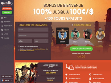 Gunsbet Homepage Preview