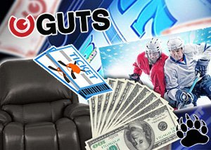 Guts Casino Canadian Lazy Boy Love Seat Raffle