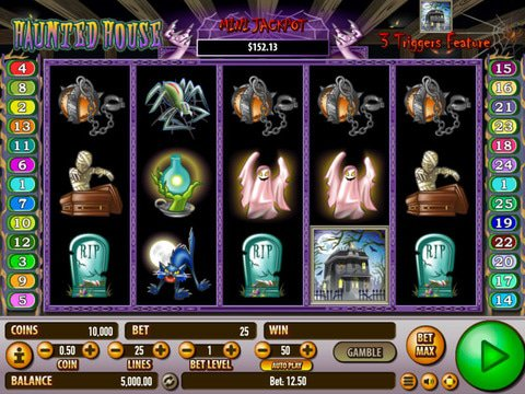 Play No Download Haunted House Slot Machine Free Here