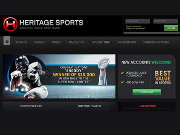 Heritage Sports Homepage Preview