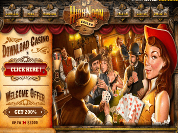 High Noon Casino Homepage Preview