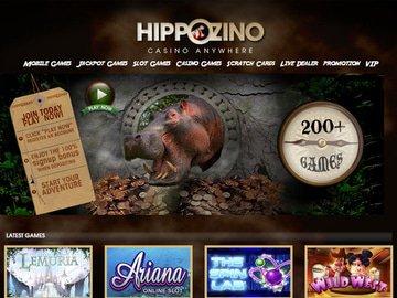 Hippozino Casino Homepage Preview