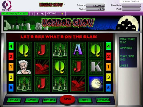 Play Horrow Show Slot Machine Free With No Download
