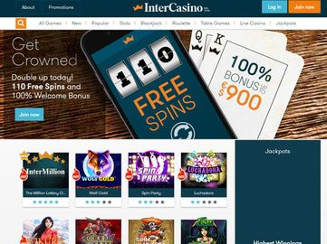 InterCasino Homepage Preview