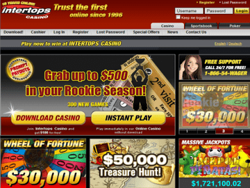 Intertops Casino Homepage Preview