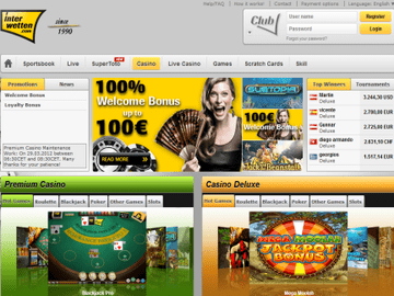 Interwetten Casino Homepage Preview