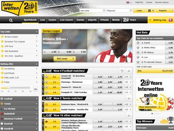 Interwetten Homepage Preview