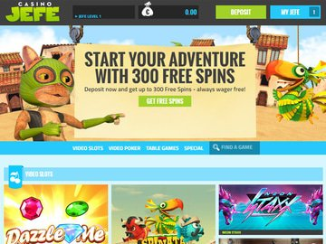 Jefe Casino Homepage Preview