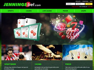 Jenningsbet Casino Homepage Preview