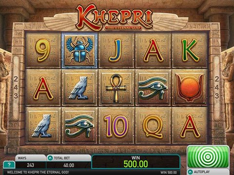 Play Khepri The Eternal God Slot Machine Free with No Download