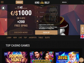 King Billy Homepage Preview