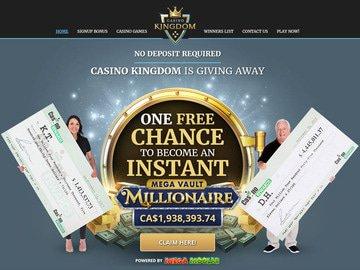 Kingdom Casino Homepage Preview