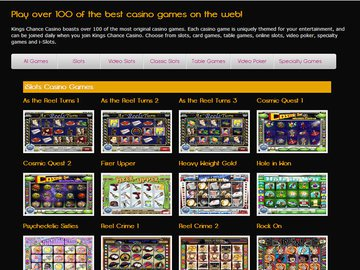 Kings Chance Casino Software Preview