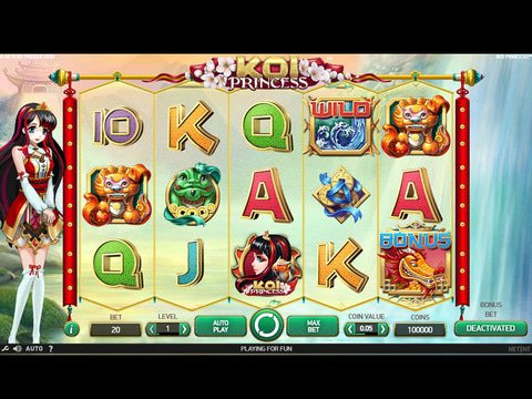 Play No Download Koi Princess Slot Machine Free Here