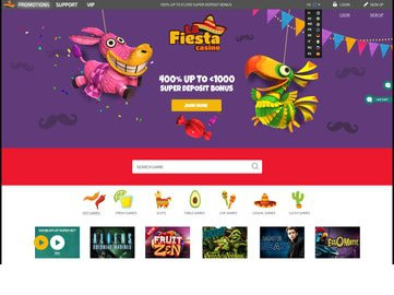 La Fiesta Casino Homepage Preview