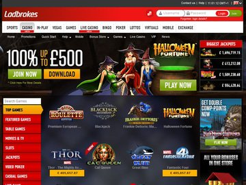 Ladbrokes Casino Homepage Preview