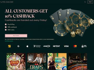 LiveCasino Homepage Preview