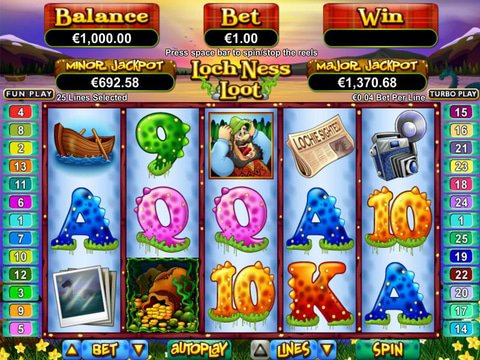 Play Loch Ness Loot Slot Machine Free with No Download