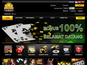 Lucky Bet 89 Casino Homepage Preview