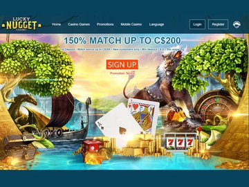 Lucky Nugget Casino Homepage Preview