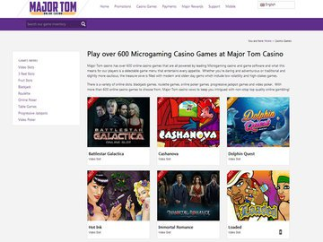 Major Tom Casino Software Preview