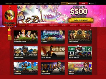 Mandarin Palace Casino Homepage Preview
