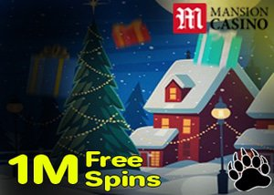 Mansion Casino Santa's 1 Million Spins Drop Promotion