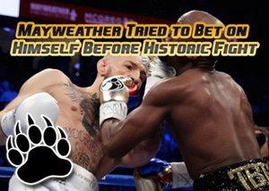 mayweather bet on himself mcgregor fight night