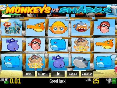 Monkeys VS Sharks HD Game Preview