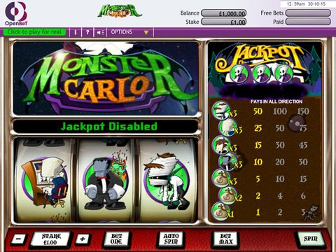 Play Monster Carlo Slot Machine Free With No Download