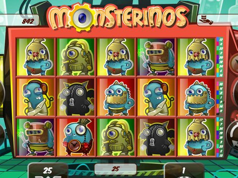 Monsterinos online slot game for free with no download!