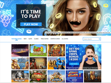 Mr Play Casino Homepage Preview