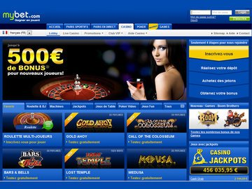 Mybet Homepage Preview