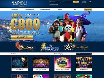 Napoli Casino Homepage Preview