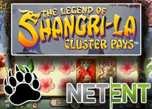 new netent slot the legend of shangri la cluster pays