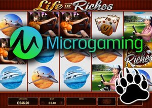 new life of riches slot from microgaming has december release