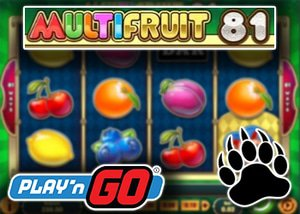 new multifruit slot play'n go casinos