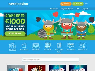 Nordic Casino Homepage Preview