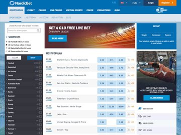NordicBet Homepage Preview