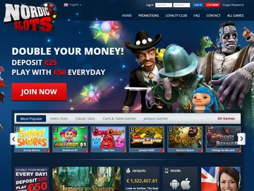 NordicSlots Homepage Preview