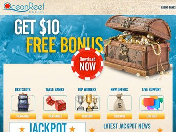 Ocean Reef Casino Homepage Preview
