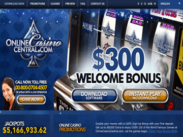 Online Casino Central Homepage Preview
