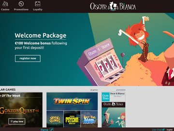 Oscar Bianca Casino Homepage Preview