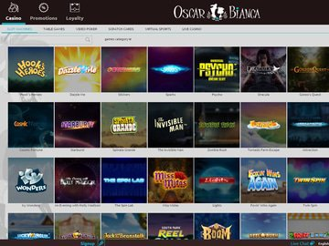 Oscar Bianca Casino Software Preview