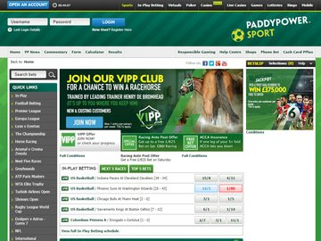 Paddy Power Homepage Preview