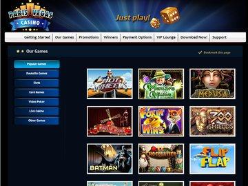 Paris Vegas Casino Software Preview