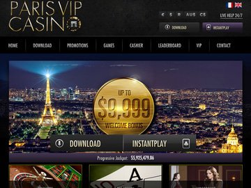 ParisVIP Casino Homepage Preview